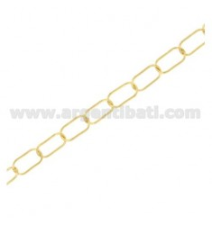 CHAIN OVAL METRO MM 12X6 THREAD 0,8 MM IN SILBER TIT 925 ‰ CM 50