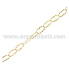 METRO JERSEY CHAIN OVAL MM 11X6 WITH WIRE SEMIBATTUTO IN SILVER TIT 925 ‰ CM 50