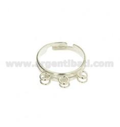 RING MIT 6 Ringe aus Silber 925 ‰ mit veränderbarer Länge