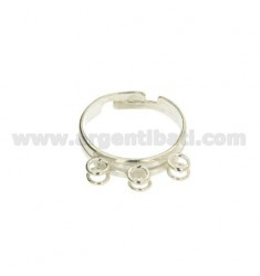 RING WITH 6 RINGS IN SILVER 925 ‰ ADJUSTABLE SIZE