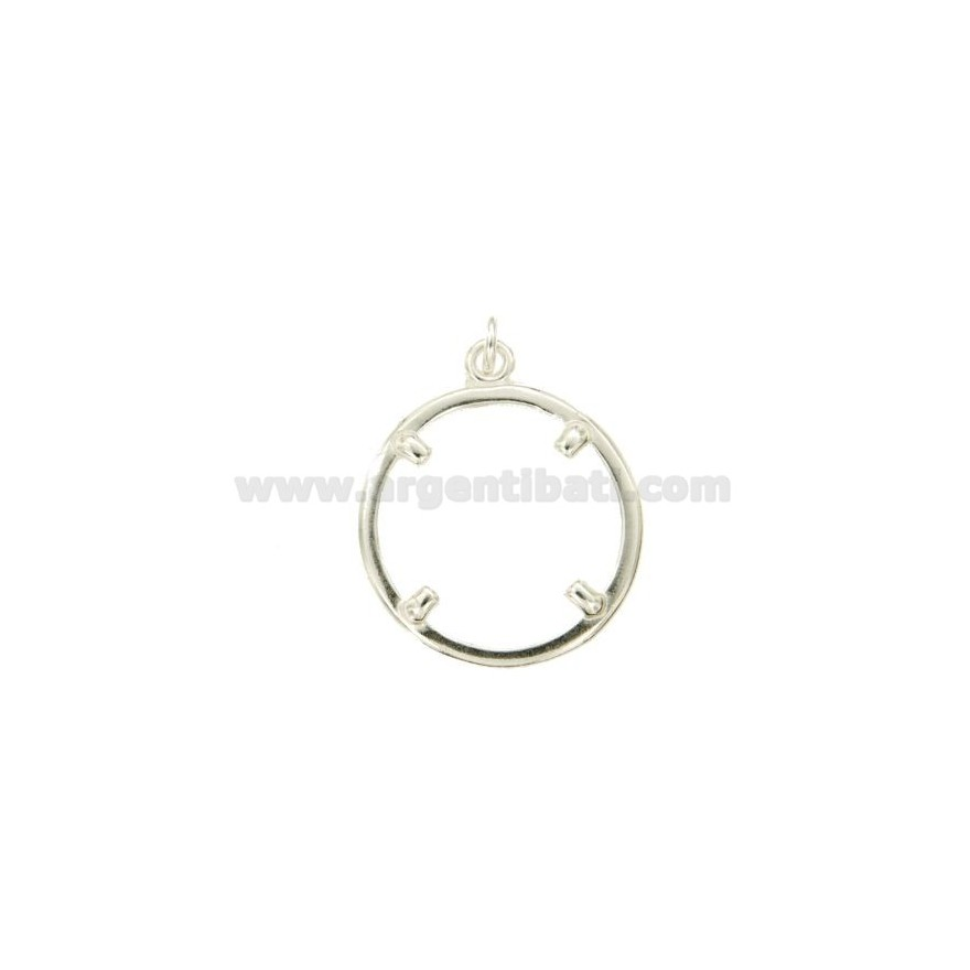 FRAMES FOR 10 LIRA COINS, EURO 1, 1/4 OF 22 MM INTERNAL SILVER ...