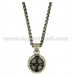 PENDANT CELTIC CROSS STEEL BRUNITO CHAIN SWEATER EAR TUBE MM3 CM 50