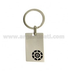 KEY RING PLATE AND STEEL POLISH WITH RUDDER