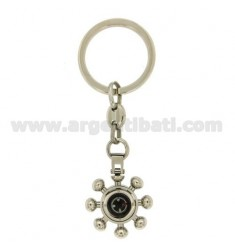 KEY RING COMPASS RUDDER WITH STEEL