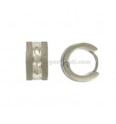 PENDIENTES cerchietto complemento BARRIL 13 mm de diámetro de acero satinado 7 AFILADO