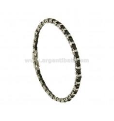 Armband aus Stahl und schwarzem KERAMIK