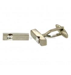 20X5 GEMINI acero rectangulares MM con circón