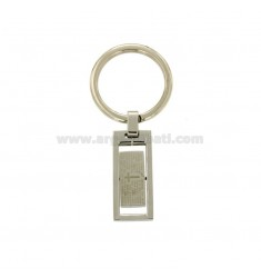 KEY RING IN STEEL PLATE WITH OUR FATHER