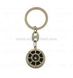 KEY RING ROUND 26 HELM MM STEEL AND ELEMENTS CLAD RUTENIO