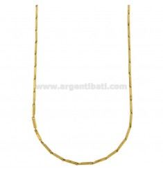CHAIN STEEL SEGMENT 1.5 MM GOLD PLATED 50 CM
