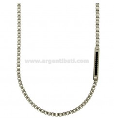 3 CM 50 MM VENETIAN CHAIN IN STEEL WITH ZIRCONIA BLACKS