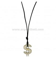 BRONCE CHARM símbolo del dólar ACERO CON TOMA DE Bilamina y oro con CERATA blondas