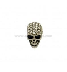 Cráneo colgante MM14X11 fino y circonio BLANCO