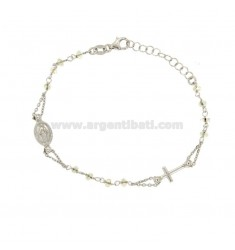ROSARY BRACELET WITH STONES boreal TIT SILVER 925 CM 17.19