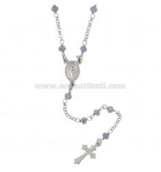 Collar del rosario de plata PIEDRAS TIT CELESTIAL 925 CM 50