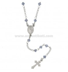 ROSARY NECKLACE WITH STONES CELESTIAL TIT SILVER 925 CM 50