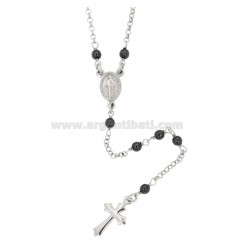 ROSARY NECKLACE WITH STONES EMATITE TIT SILVER 925 CM 50