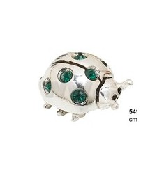LADYBIRD LARGE WITH GREEN STRASS