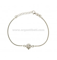 BRACELET WITH CABLE WITH EMOTICON Wink Tongue SILVER RHODIUM TIT 925 ‰ 16.18 CM