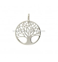 TREE OF LIFE PENDANT 20 MM MM SLAB 12:50 SILVER RHODIUM TIT 925 ‰