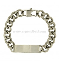 Curb BRACELET STEEL PLATE WITH 11 MM