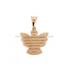 PENDANT ANGEL WITH PRAYER ECO MM 20X19 SILVER COPPER TIT 925