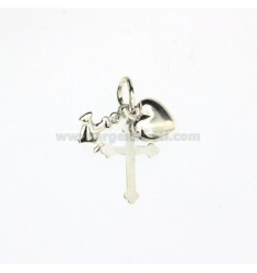 CHARM COUPLED.CROSS FAITH, HOPE.STILL.HEART CHARITY SILVER TIT.