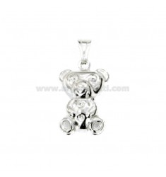 CHARM COUPLED BEAR MM 22x14 SILVER TIT 925 ‰
