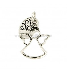 CHARM ANGEL LIFE.MM 31x24 SILVER BRUNITO TIT 800