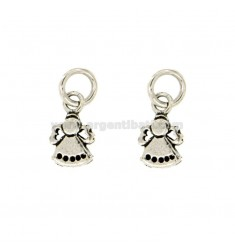 CHARM ANGEL MM 15x9 PZ 2 SILVER BRUNITO TIT 800