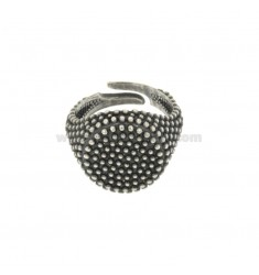 RING ROUND 19 MM WITH MICRO SILVER BRUNITO TIT 925 ‰ ADJUSTABLE SIZE