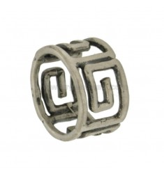 GREEK BAND RING.THROUGH IN AG TIT BRUNITO 925 ‰ SIZE 16