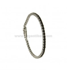Tennis.Armband 3 MM Silber rhodiniert 925 ‰ und Zirkoniumdioxid BLACKS