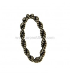 RING TIE TWISTED SILVER BRUNITO TIT 925 ‰ MIS 22