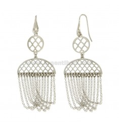 EARRINGS ZINGARA MM 81X30 SILVER RHODIUM TIT 925 ‰