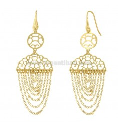EARRINGS ZINGARA MM 88X30 SILVER GOLD PLATED TIT 925 ‰