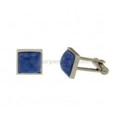 TWINS SQUARE MM 13X13 Stahl mit Steinpyramide BLUE CARD SUGAR