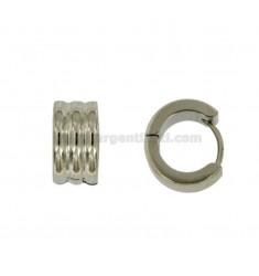 PENDIENTES cerchietto Snap 3 del cable de diámetro 14 mm 7 barril de acero