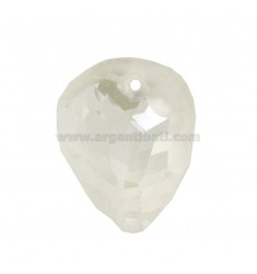 TIP OF LAUNCHES faceted MM 35X28 HIGH WITH HOLE IN CRYSTAL SWAR WHITE