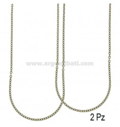 CHAIN CABLE MM 3 PCS 2 STEEL 80 CM