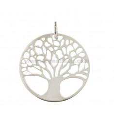 TREE OF LIFE PENDANT 30 MM MM SLAB 12:50 SILVER RHODIUM TIT 925 ‰