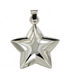 CHARM GEKUPPELTE STAR MM 36x32 Silber rhodiniert TIT 925 ‰
