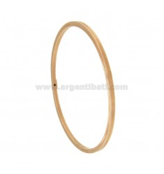 BRACCIALE A CERCHIO CANNA QUADRATA MM 2,5X2,5 DIAMETRO INTERNO CM 6,4 IN ARGENTO PLACCATO ORO ROSA TIT 925‰