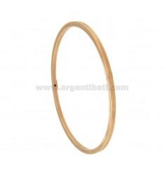 PULSERA DE UN BARRIL círculo cuadrado 2,5x2,5 mm de diámetro interior de 6,4 cm PLATA chapado en oro rosa TIT 925 ‰