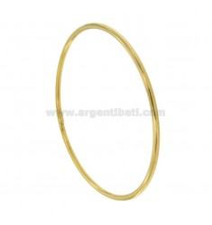 BRACELET A BARREL CIRCLE 2.6 MM INTERNAL DIAMETER 7.5 CM SILVER GOLD PLATED TIT 925 ‰