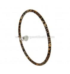PULSERA un círculo alrededor de 3,5 MM ROD INTERNA 7 mm de diámetro SILVER TIT 925 ‰ BRONCE acristalamiento con PENDIENTE DROP