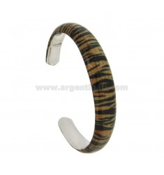 BANGLE 11 MM SILVER RHODIUM TIT 925 ‰ GLAZED FANTASY WITH BRONZE TONE