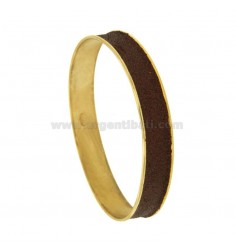 BRACELET 11 MM INNER CIRCLE 6.8 CM SILVER GOLD PLATED TIT 925 ‰ glittery BROWN