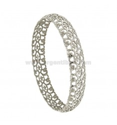 BRACELET A CIRCLE 12 MM INTERNAL DIAMETER 7 CM IN SILVER RHODIUM TRAFORATO TIT 925 ‰