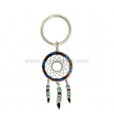 KEY RING CATCHER IN SILVER RHODIUM 925 ‰ AND POLISH ASSORTED COLORS